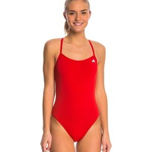 Adidas Red One Piece Swimsuit